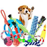 Dog Toys, Dog Chew Toys, Dog Training Toy Set With Ball Ropes And Squeaky Toys For Medium To Small Doggie, 12 Pack Of Gift