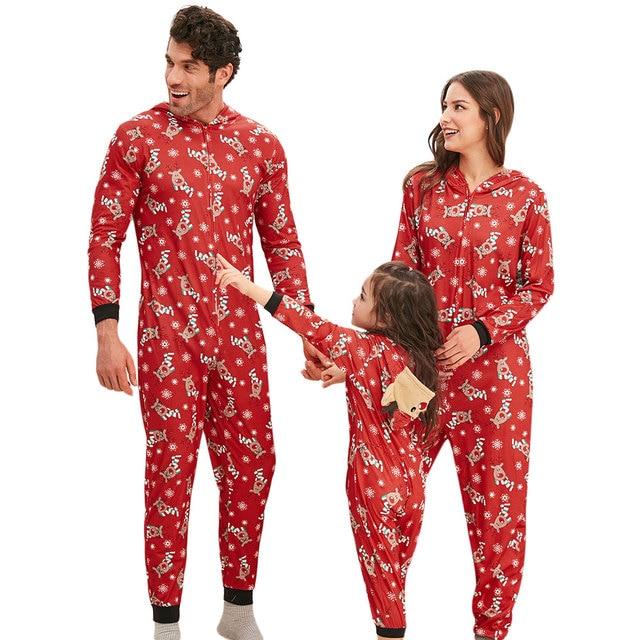 Familia Juego Trajes Navidad Familia Pijamas Adultos Hombres Y