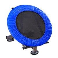 LK 89 Новое поступление Крытый ПВХ батут для взрослых детей Нержавеющая сталь круглый батут дома Спорт фитнес оборудования