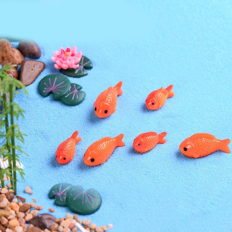 5Pcs Fish Miniatures For Fairy Garden Gnomes Moss Terrariums Decoration