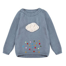 Baby Girls Knitted Sweater Toddler Kids Cloud Cardigan Pullovers Autumn Winter Warm Coat Outerwear Clothes(China)