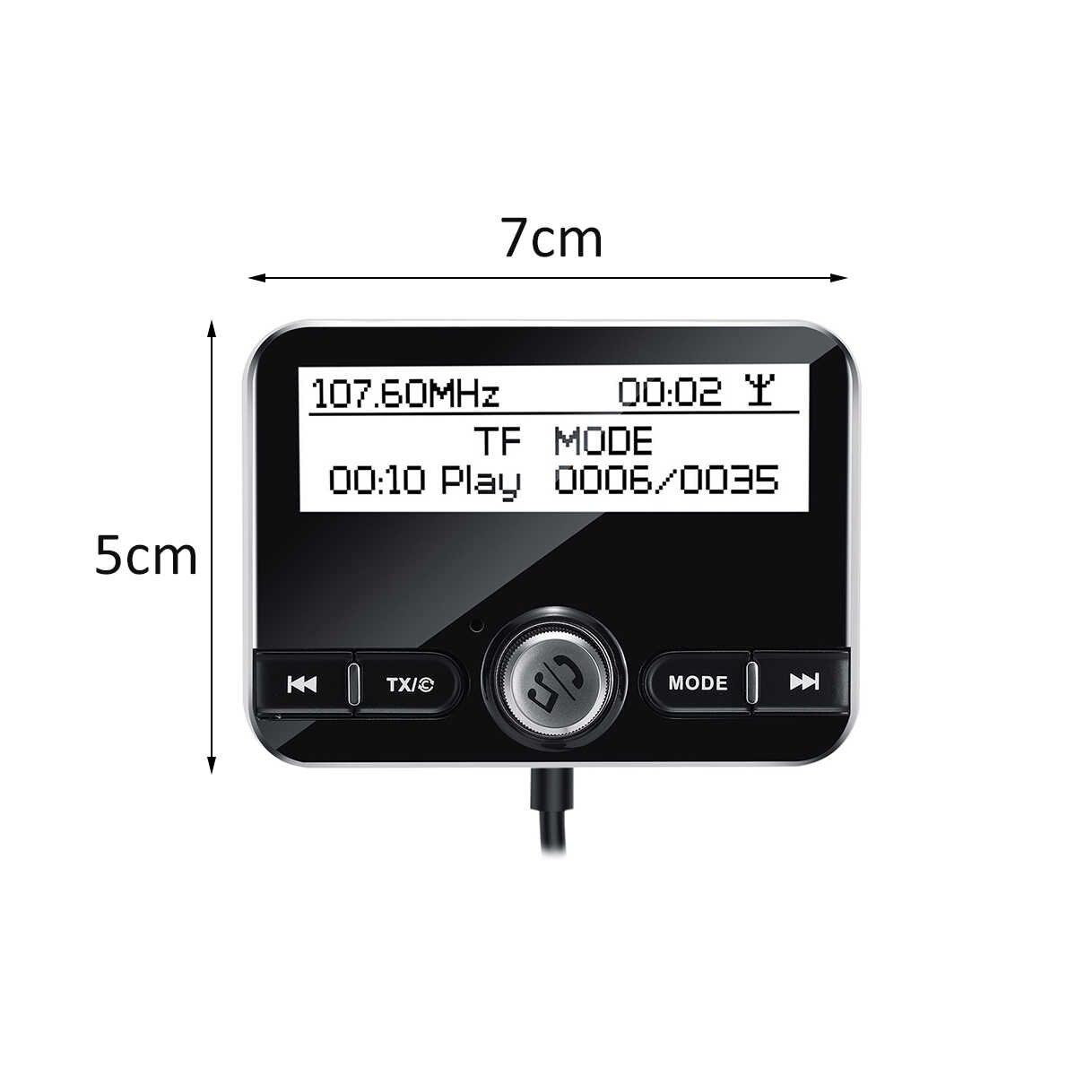 Mobil Radio Penerima Tuner USB Adapter Bluetooth Mobil Transmitter TF/AUX Antena LCD Display Digital Radio Panggilan Bebas Genggam