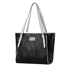Witfox fake designer handle bags for women mothers shopping packet big capacity genuine leather ladies tote classic black