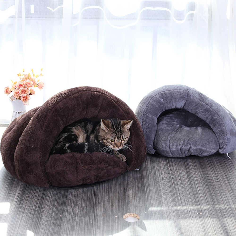Плюшевые домашние гнезда коврик теплые маленькие собаки щенок домашний спальный мешок мягкий лежак для кошек домашние товары для домашних животных кошек принадлежности