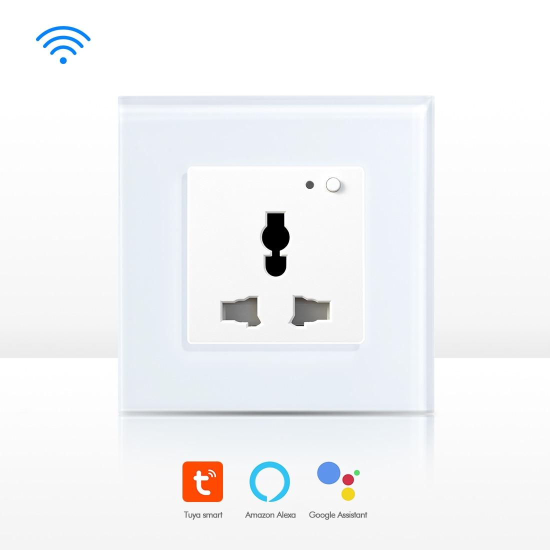 Prise de courant Wifi Multi prise murale prise de courant cristal 13A noir or blancPrise de courant Wifi Multi prise murale prise de courant cristal 13A noir or blanc
