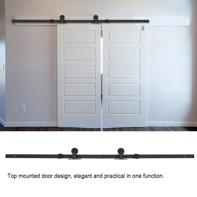 50387 руб 45 скидка66ft топ установлен сарай раздвижные деревянные двери аппаратные средства комплект легко установить деревянные дверные рамы