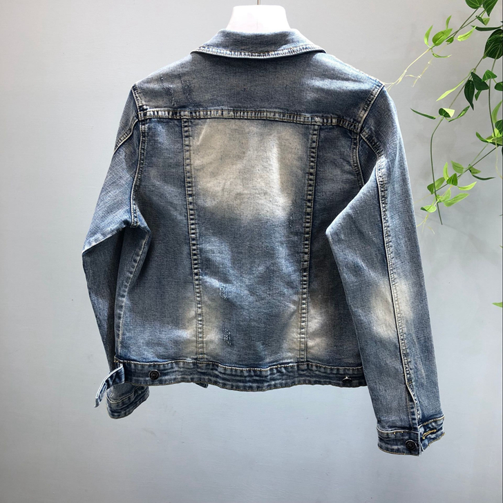 Gland Fleur Denim Européenne Jeans Costumes Estampage 3d Stretch jacket 2 Perlé Nouveau Pièce jeans Ensemble Piece Two Veste Femmes APqxArwzgn