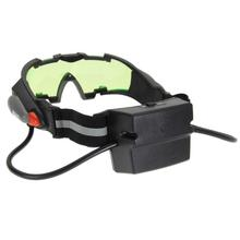 Adjustable Elastic Band Night Vision Goggles Glass Children Protection Glasses Cool Green Lens Eye Shield With LED 18.5x21x3 cm