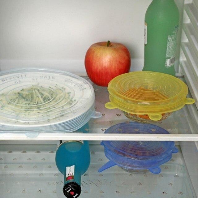 Купить 6 шт/компл пищевая обертывания многоразовые силиконовые пищевые картинки