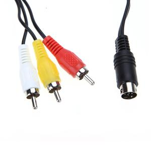 Image 5 - 1.8M Retro bit AV RCA Audio Video Cable For Sega Genesis 2 3 II III Connection Cord 3RCA to 9 pin Nickel Plated Plug Game Cable