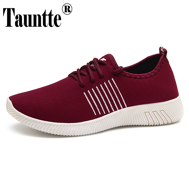 Women Sneakers Flyknit Breathable Casual Shoes Light-Weight Knitting Lady Shoes