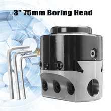 3 ''75mm głowica wiercąca tokarka narzędzie do frezowania uchwyt + 3 klucz do wiercenia otworów 3/4''