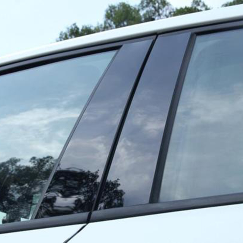 Image 2 - 6pcs Car Window Pillar Trim Decoration Cover Sticker Black Plastic High Quality Auto Window Pillar Trim For Honda CR V CRV 17 18-in Chromium Styling from Automobiles & Motorcycles