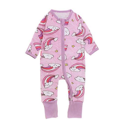 b7c4de170 Ropa de bebé recién nacido de manga larga lindo otoño cálido algodón estampado  mono trajes ropa de bebé Niña 0 4 t en Monos de Mamá y bebé en  AliExpress.com ...