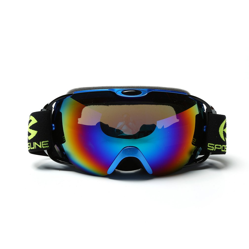 SPOSUNE Men Women  Unisex Skiing Goggles Double Layers Outdoor Winter Snow Sports Spherical Anti-Fog Goggles