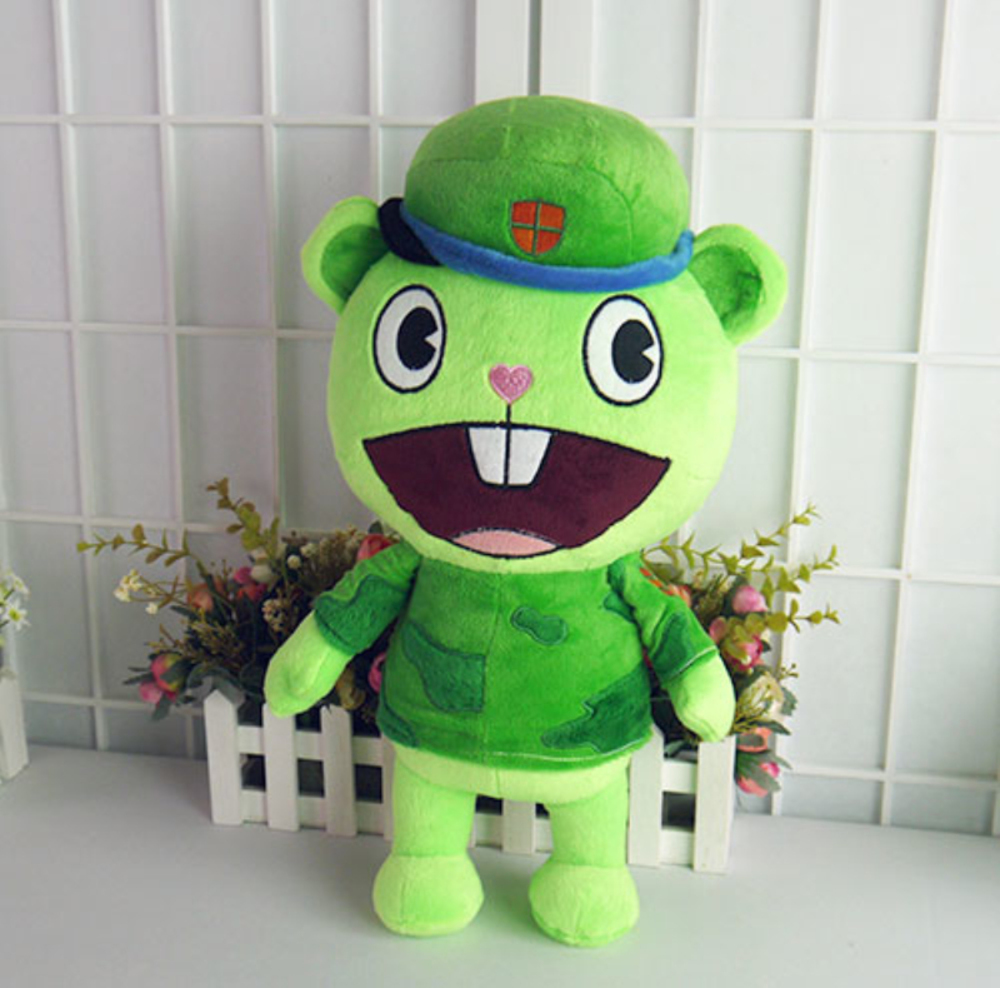 40 Cm Of The Happy Tree Friends Plush Dolls Anime Htf Flippy Soft Pillow Plush Toys Gift For Children