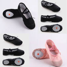 2019 New Baby Girl Ballet Dance Toe Solid Shoes Professional Ladies Satin Pointe Shoes Silk Two Colour Pink Black Size 22-30 CM(China)