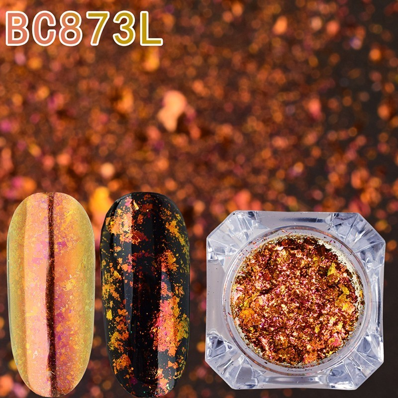Image 4 - BeautyBigBang 0.1g Chameleon Effect Flake Nails Accessories Sequins Mirror Powder Chrome Pigment Paillette Glitter for Nails Art-in Nail Glitter from Beauty & Health