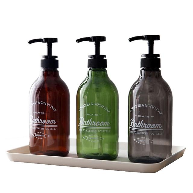 US $3.4 13% OFF 600ml Soap Dispenser Bottle Kitchen Hand Sanitizer Bottle  Cosmetics Shampoo Body Wash Lotion Bottle Outdoor Travel Bottle-in Portable  ...