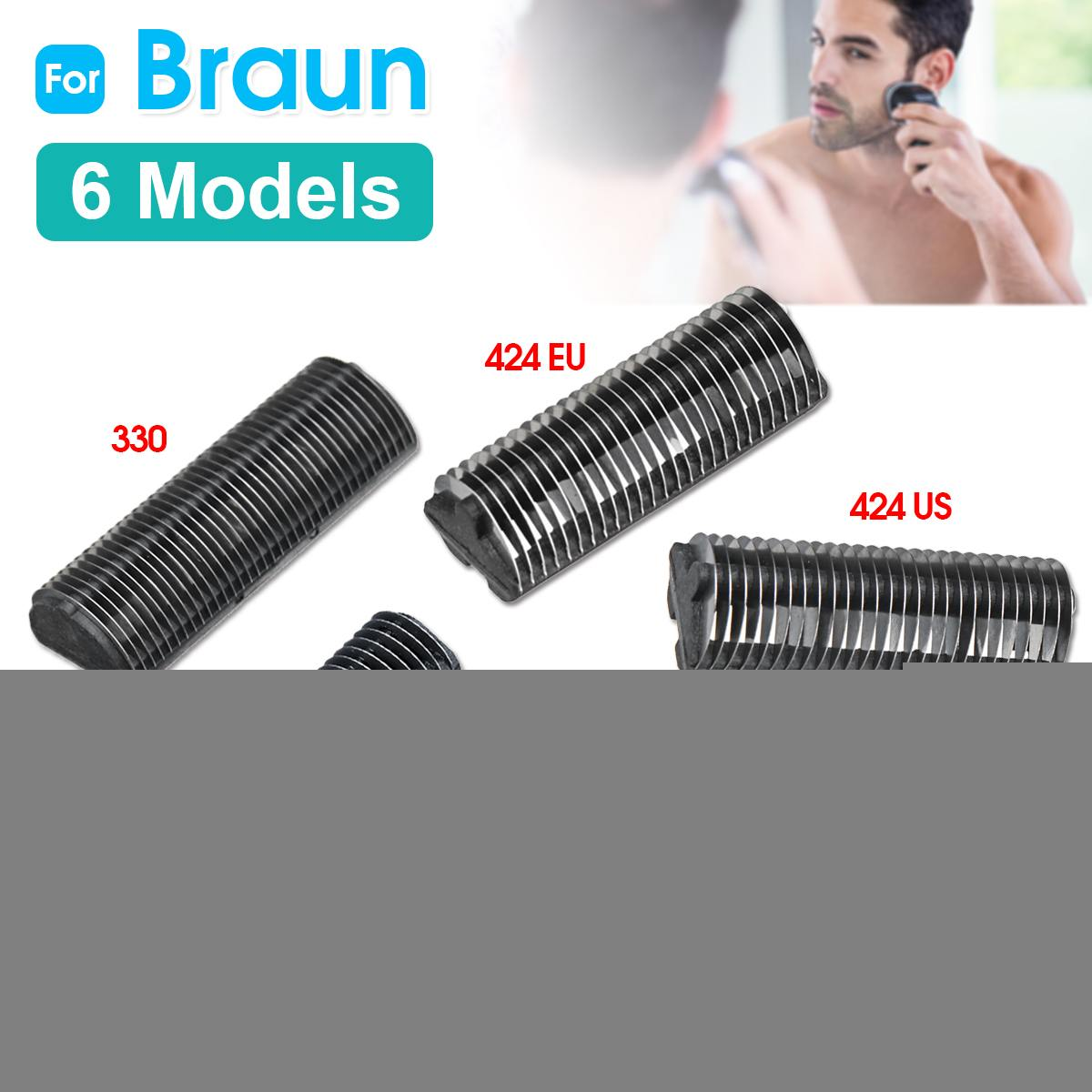 Replacement Shaver Cutter For Braun 330 346 383 410 424EU 424US 10B 20B 20S 428EU 428US 5235 5533 Razor Shaver Cutter 5 Types