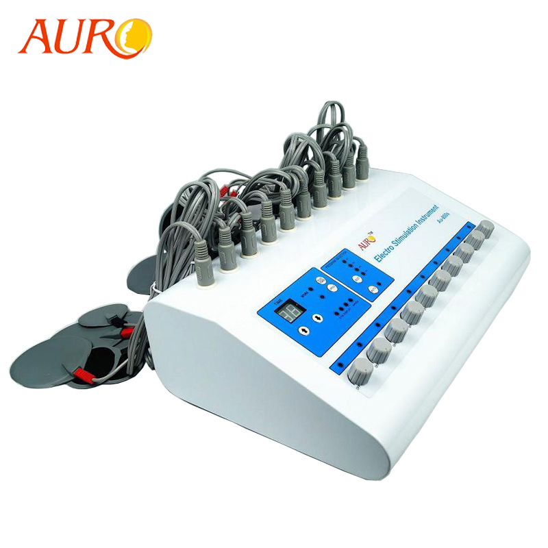Free Shipping 2019 AURO Products Electro Muscle Stimulator Microcurrent Pulse Stimulator Body Fitness Training Massage Machine