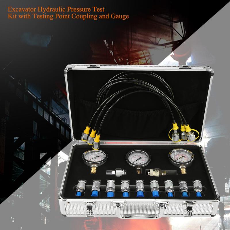 Excavator Hydraulic Pressure Test Kit Testing Point Coupling Gauge for Hydraulic Pressure Test