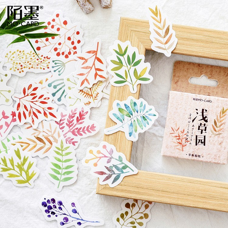 46PCS/box New Cute Asakusa Garden Paper Lable Sealing Stickers Crafts Scrapbooking Decorative Lifelog DIY Stationery Sticker