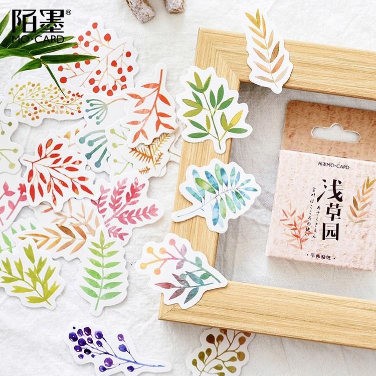 46PCS/box New Cute Asakusa Garden Paper Lable Sealing Stickers Crafts Scrapbooking Decorative Lifelog DIY Stationery Sticker