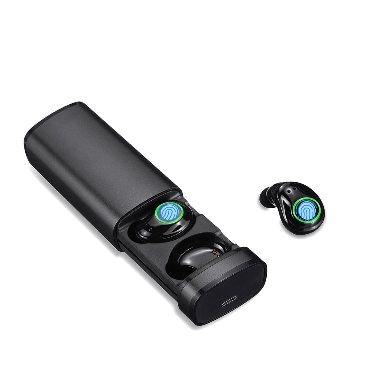 Tws True Bluetooth 5.0 écouteurs sans fil écouteurs doubles écouteurs Mini jumeaux stéréo écouteurs intra-auriculaires avec Micr pour téléphone intelligent