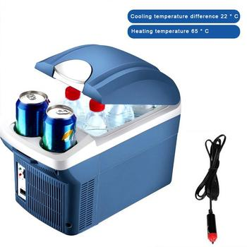 8L/6L Mini Portable Cooling Warming Refrigerators Freezer Insulation Box Dual Use Cooler Warmer For Auto Outdoor Picnic Travel