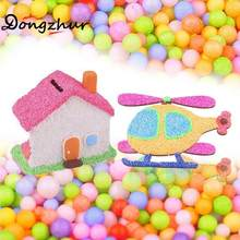 1Bag Craft Styrofoam Decor DIY Foam Balls Beads Decorative Ball Arts Kid'S Handmade Slime Props Party Colorful Rainbow Foams(China)
