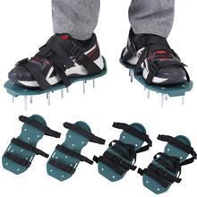 1 пара газонов аэратор сандалии 3 ремешки 4 ремешки Тяжелая трава Шипованная обувь с пластиковой пряжкой садовый инструмент на выбор