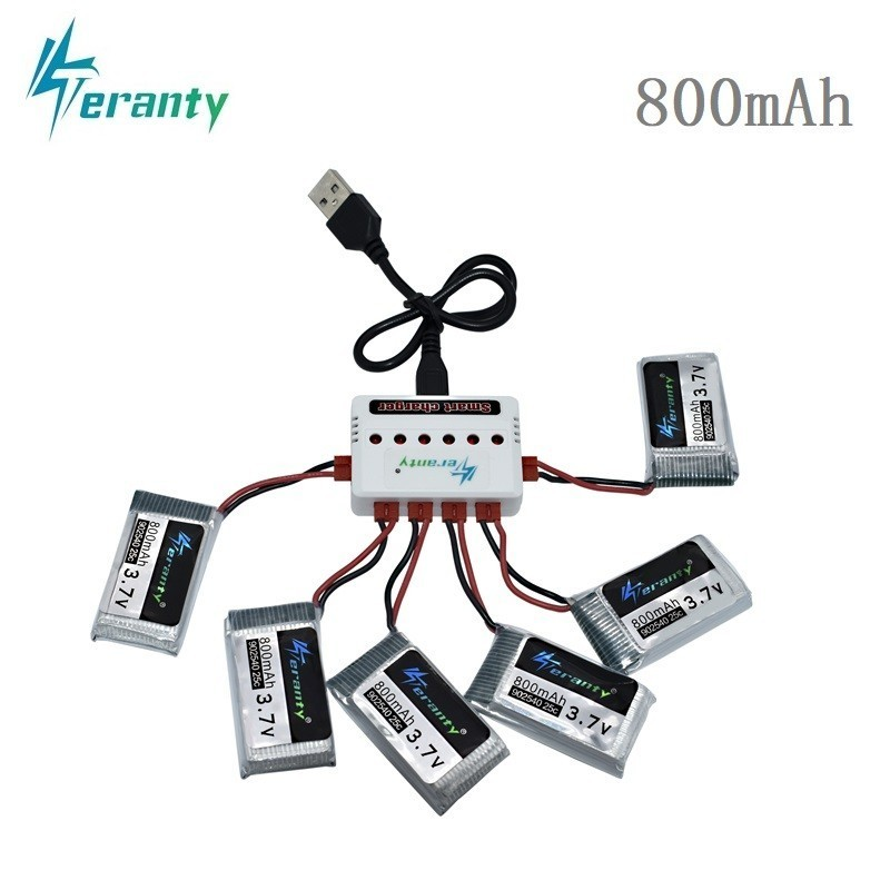 3.7V 800mAh 25c Lipo Battery and Charger for Syma X5 X5HC X5HW X5UW X5UC 3.7v X5 Battery RC Quadcopter Drone Spare Part 902540 3.7V 800mAh 25c Lipo Battery and Charger for Syma X5 X5HC X5HW X5UW X5UC 3.7v X5 Battery RC Quadcopter Drone Spare Part 902540