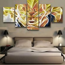 5 piezas de arte de lona Dragon Ball Z Poster DBZ Cuadros decoración pinturas sobre lienzo arte de pared para el hogar decoraciones de pared Decoración(China)