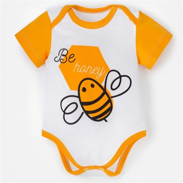 "Боди Крошка Я ""Love & honey. Bee"", белый, р. 26, рост 74-80 см   4090309"