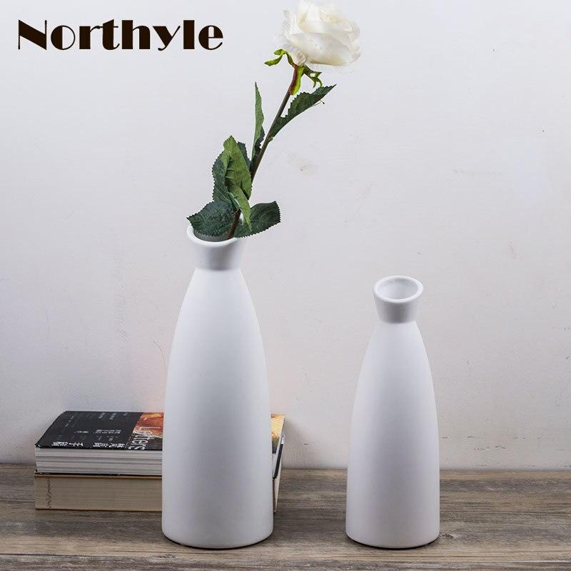 Jednoduchá váza moderní keramická květina váza domácí dekorativní květina váza bílá květina láhev umění řemesla dům ornament vybavení