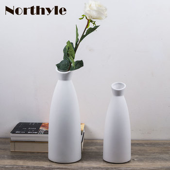 Simple vase modern ceramic Flower Vase home Decorative flower vase white flower bottle art crafts house ornament furnishing фото