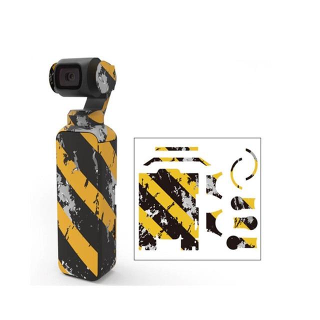 พรางสีสันสดใส Decals กล้องป้องกันฟิล์มสติกเกอร์กันน้ำสำหรับ DJI OSMO Pocket Handheld Gimbal อุปกรณ์เสริม