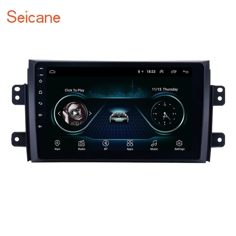 Autoradio Seicane pour 2006-2012 Suzuki SX4 Android 8.1 9 pouces 2Din HD écran tactile GPS lecteur multimédia Support Bluetooth WIFI