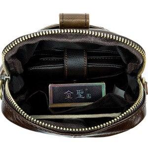 Image 5 - Vintage Erkek postacı çantası Hakiki Deri Erkek Mini Seyahat Çantası Adam omuz çantaları Küçük Crossbody Çanta Erkek Erkek Deri Çanta