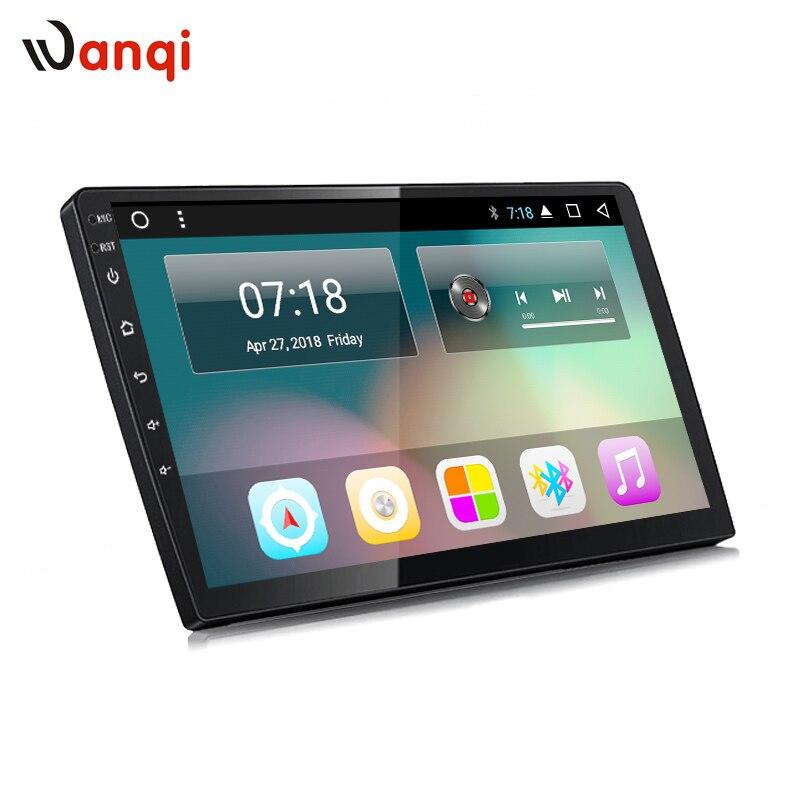 Wanqi 9 pouces ou 10 pouces Android 8.1 Voiture GPS Multimédia Universel Navigation unité de tête pour n'importe quelle voiture modèles avec 1din retour