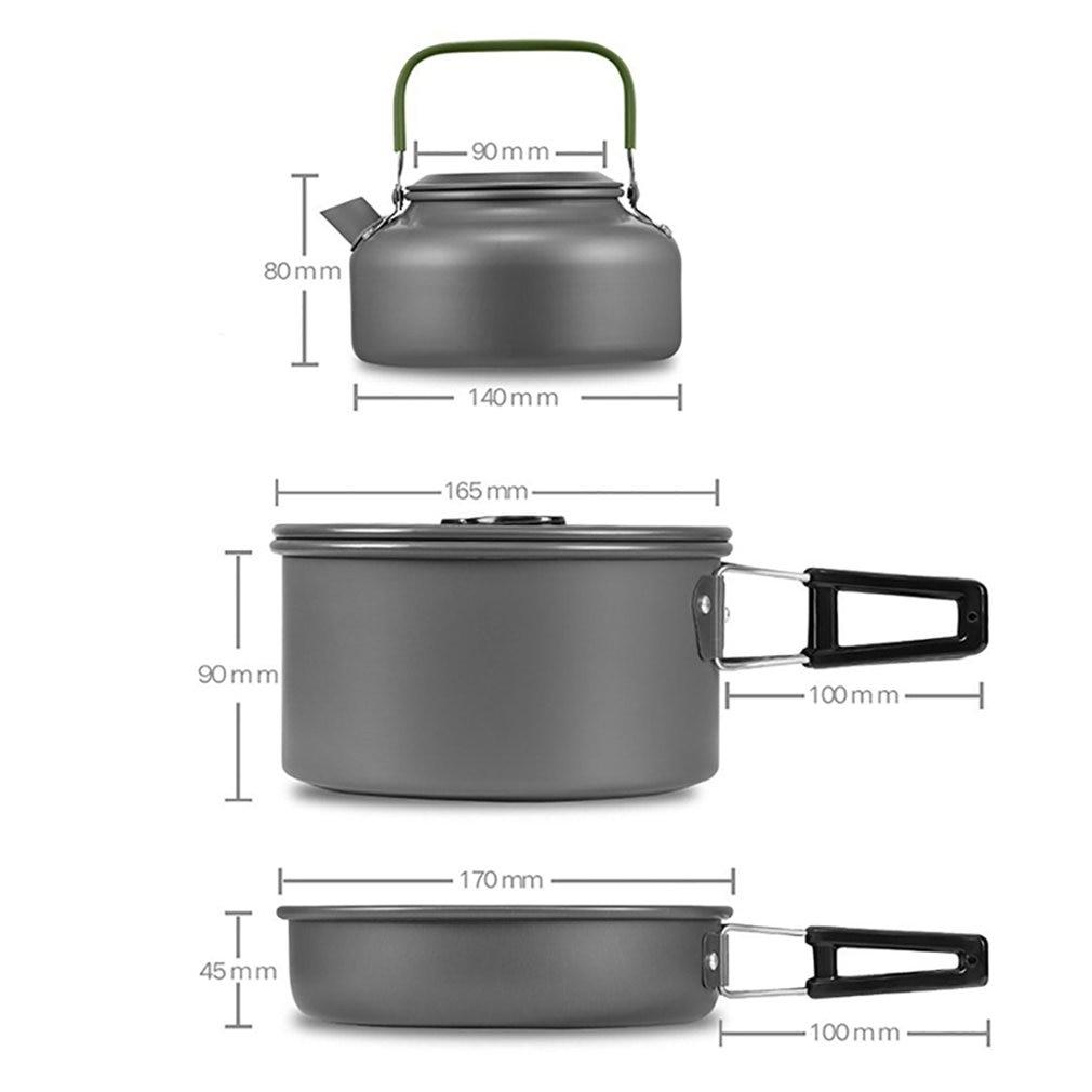 Sport Ds 308 Cookware Compact Durable Outdoor Camping Hiking Backpacking Pot Setpy Camping Kochgeschirr Escxtra Com