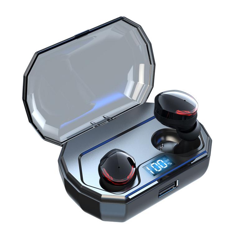 TWS-R10 Bluetooth casque Unique Led affichage numérique, 2019 offre spéciale 5.0 affichage numérique sans fil Binaural Bluetooth casque