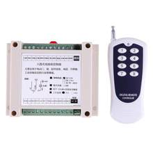 DC12V 8CH Channel Nirkabel RF Remote Control Switch Transmitter + Receiver(China)