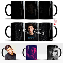 Shawn Mendes Mugs Coffee Mug Friend Gifts Novelty Heat Reveal Cup Heat Changing Color Magic Mug Tea Cups sergio mendes sergio mendes magic 180 gr