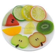 цена на Gresorth Premium Artificial Fruit Slice Fake Lemon Cherry Cherries KIWI Apple Decoration Photo Props