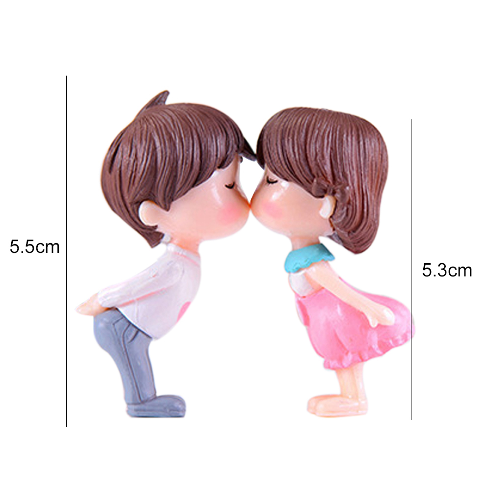 Lovers Exquisite Miniature Statues Figurine Miniature for Wedding Garden Mini Ornament Yard Decor Outdoor Living