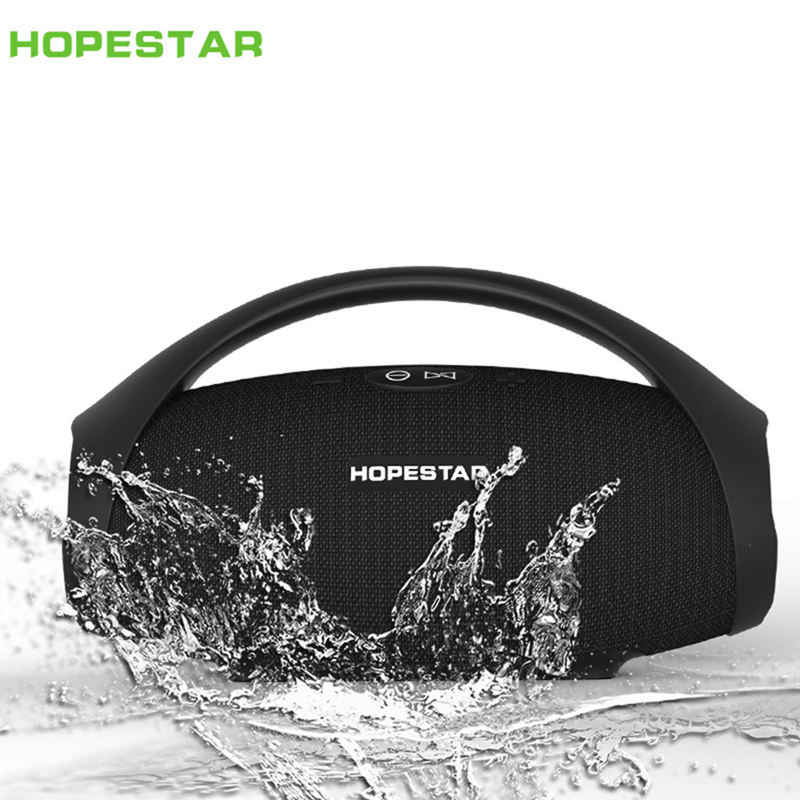 Hopestar-H32 Outdoor Portabel Bluetooth Speaker Nirkabel Tahan Air Ipx6 Mini Speaker Big Power 10W Kolom BOOMBOX dengan Handl