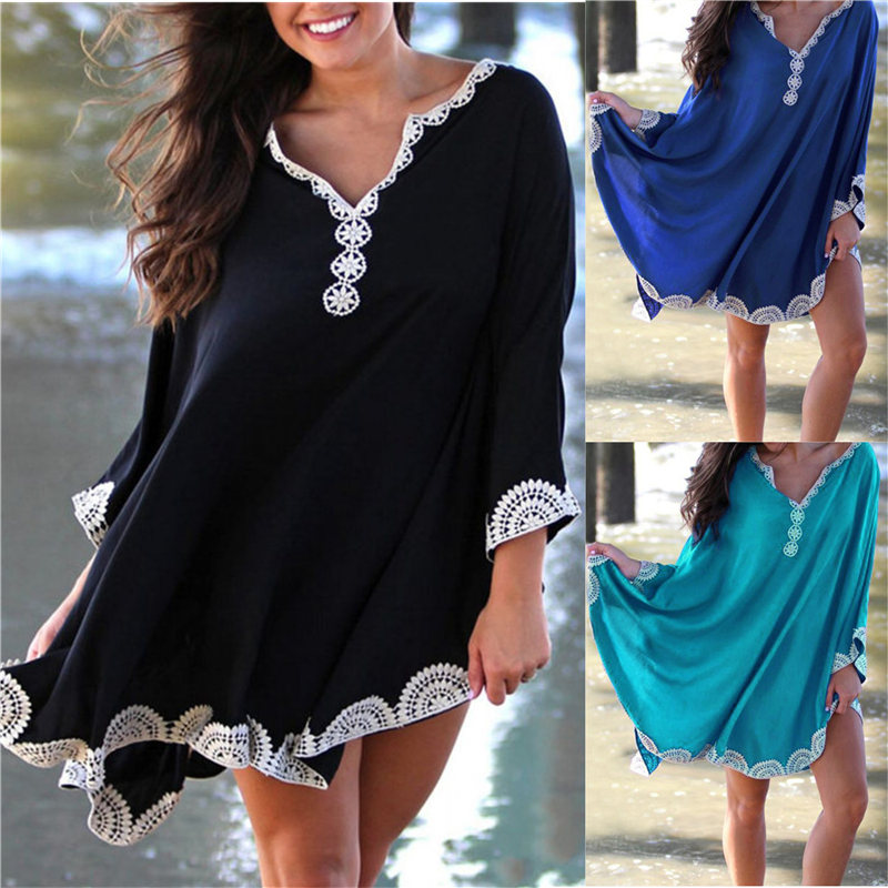 P&j 2019 Cotton Long Beach Dress Beach Coverups For Women Pareo De Plage Swimsuit Cover Up Beach Sarongs Swimwear Kaftan Beach