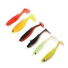 Двойной цвет Карп многоцветный 6,5 см рыболовные аксессуары Т-образный хвост рыболовные приманки, наживки легкий смайнер Swimbait Мягкая силиконовая приманка